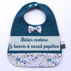 Atelier couture – Bavoir nœud papillon