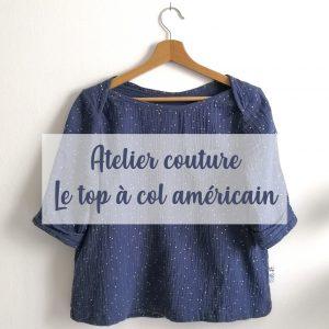 Atelier couture Top à col américain