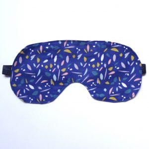 Masque de nuit imprimé bleu marine