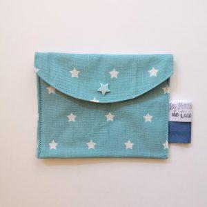 Pochette à savon – Tons bleus – Zéro déchet